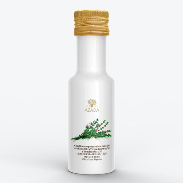 Aceite de oliva virgen extra con tomillo