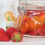 Fresas escabechadas al agua de azahar y zumo de naranja