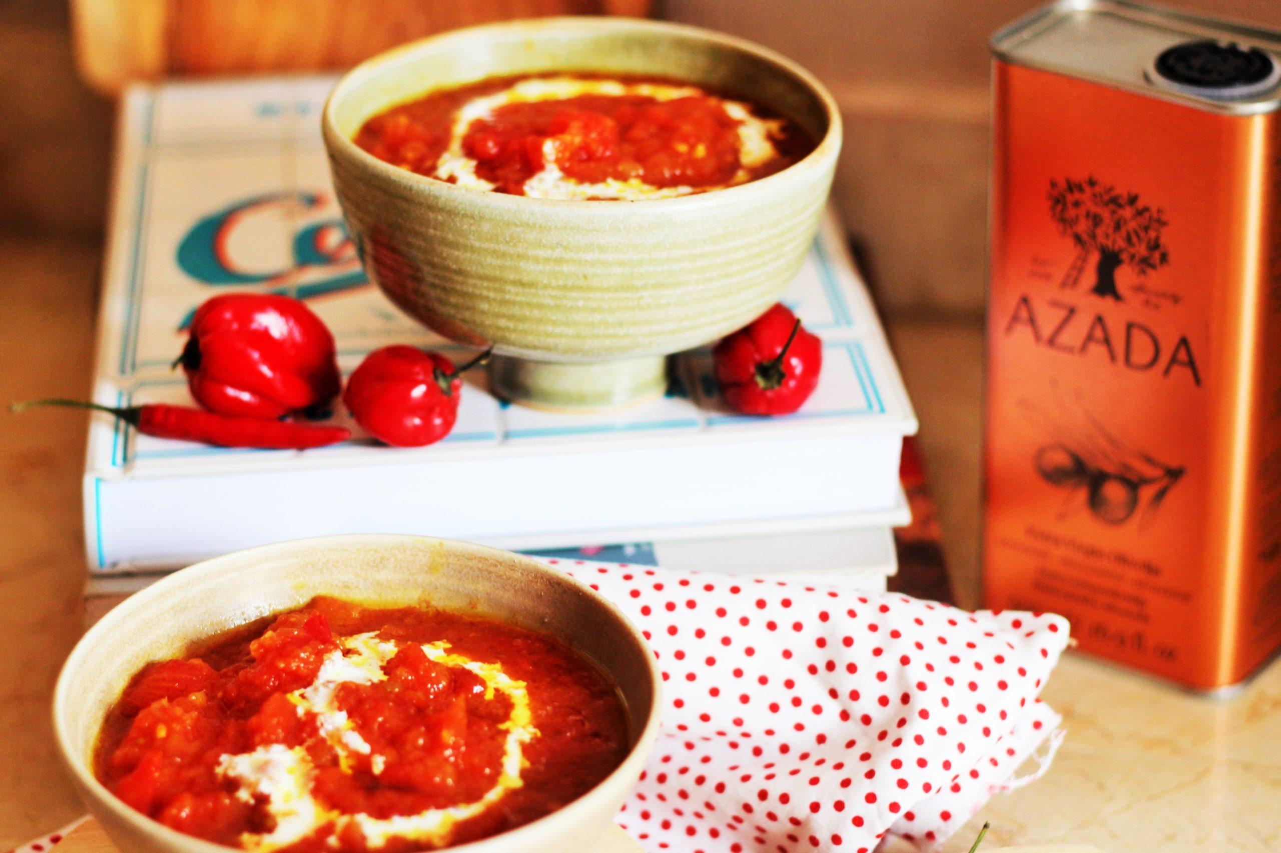 Sopa de tomate picante