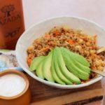 Ensalada de quinoa con yogurt y Harissa